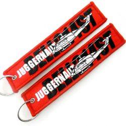 Gestickte Schlüsselanhänger mit Logo